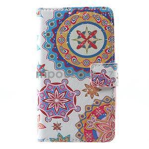 Štýlové peňaženkové puzdro pre Samsung Galaxy Xcover 3 - mandala - 2