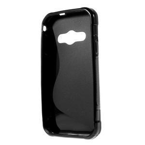 S-line gélový obal pre Samsung Galaxy Xcover 3 - čierny - 2