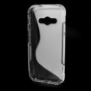 S-line gélový obal na Samsung Galaxy Xcover 3 - transparentný - 2