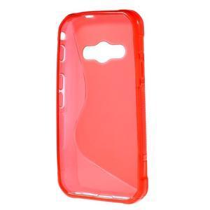 S-line gélový obal na Samsung Galaxy Xcover 3 - červený - 2