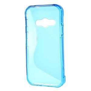 S-line gélový obal na Samsung Galaxy Xcover 3 - modrý - 2