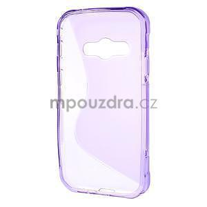 S-line gélový obal pre Samsung Galaxy Xcover 3 - fialový - 2