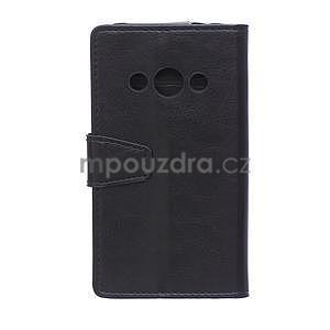 Čierne koženkové puzdro Samsung Galaxy Xcover 3 - 2