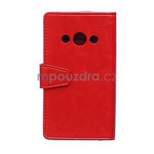 Červené koženkové puzdro Samsung Galaxy Xcover 3 - 2