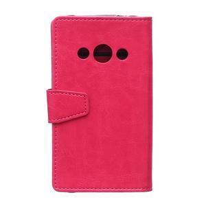 Rose koženkové puzdro Samsung Galaxy Xcover 3 - 2