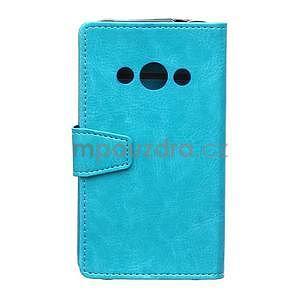 Modré koženkové puzdro Samsung Galaxy Xcover 3 - 2