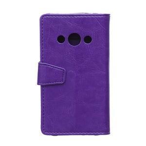 Fialové koženkové puzdro Samsung Galaxy Xcover 3 - 2