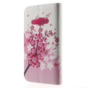Vzorové peňaženkové puzdro na Samsung Galaxy Xcover 3 - kvitnúca vetvička - 2