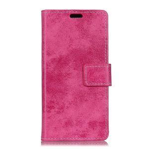 Retro PU kožené peňaženkové puzdro na mobil Nokia 2.1 - rose - 2