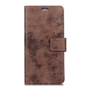 Retro PU kožené peňaženkové puzdro na mobil Nokia 2.1 - hnedé - 2