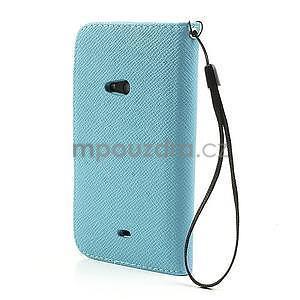 Peňaženkové puzdro s pútkom na Nokia Lumia 625 - svetlomodré - 2