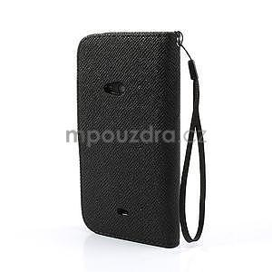 Peňaženkové puzdro s pútkom na Nokia Lumia 625 - čierne - 2