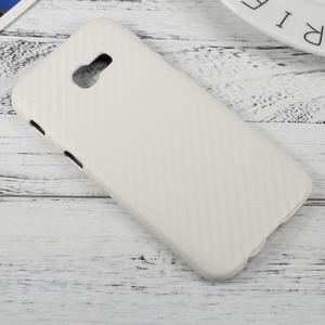Hardy plastový obal pre Samsung Galaxy A3 (2017) - biely karbon - 2
