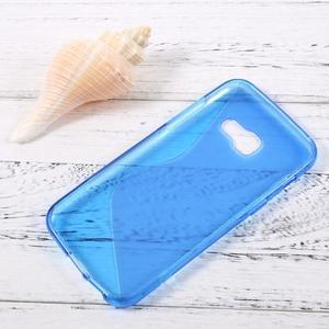 Sline gélový obal pre mobil Samsung Galaxy A3 (2017) - modrý - 2