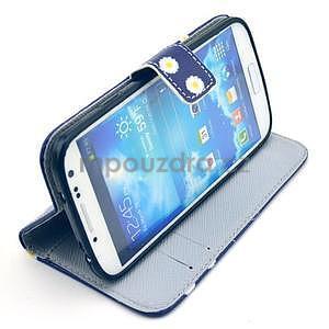 Peňaženkové puzdro pre Samsung Galaxy S4 - kvietky be happy - 2