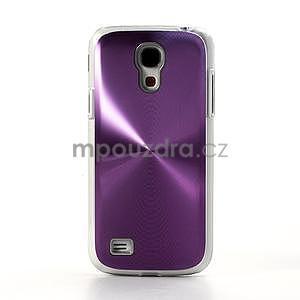 Metalický obal pre Samsung Galaxy S4 mini - fialový - 2
