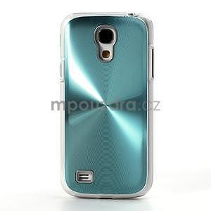 Metalický obal na Samsung Galaxy S4 mini - tyrkysový - 2