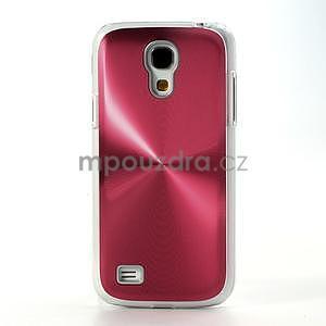 Metalický obal na Samsung Galaxy S4 mini - červený - 2