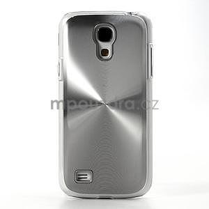 Metalický obal na Samsung Galaxy S4 mini - stříbrný - 2