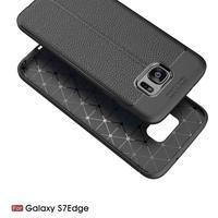 Litch odolný gélový obal s textúrou na Samsung Galaxy S7 Edge - červený - 2/7