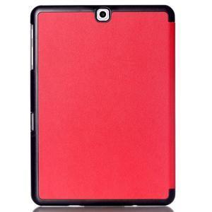 Trifold polohovateľné púzdro pre Samsung Galaxy Tab S2 9.7 -  červené - 2