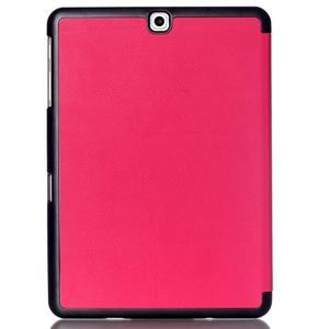 Trifold polohovateľné púzdro pre Samsung Galaxy Tab S2 9.7 - rose - 2