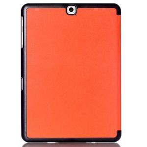 Trifold polohovateľné púzdro pre Samsung Galaxy Tab S2 9.7 -  oranžové - 2