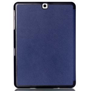 Trifold polohovateľné púzdro na Samsung Galaxy Tab S2 9.7 - tmavomodré - 2