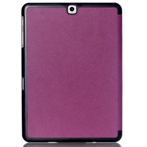 Trifold polohovateľné púzdro pre Samsung Galaxy Tab S2 9.7 -  fialové - 2