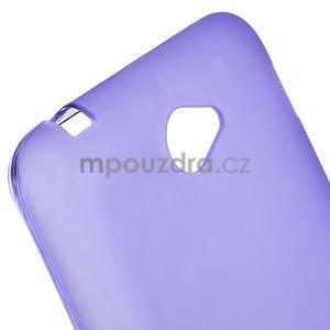 Gélový jednofarebný obal pre Sony Xperia E4 - fialový - 2