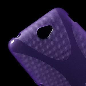 Gelový x-line obal na Sony Xperia E4 - fialový - 2