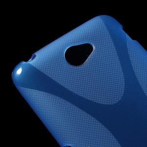 Gélový x-line obal pre Sony Xperia E4 - modrý - 2