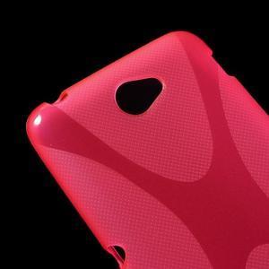 Gelový x-line obal na Sony Xperia E4 - rose - 2