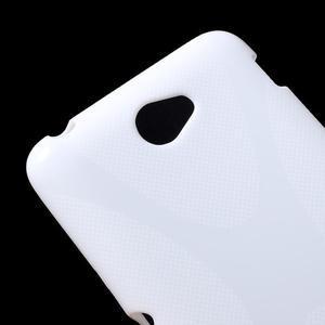 Gélový x-line obal pre Sony Xperia E4 - biely - 2