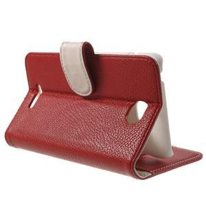 Koženkové puzdro pre Sony Xperia E4 - červené - 2