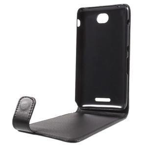 Flipové pouzdro na mobil Sony Xperia E4 - černé - 2