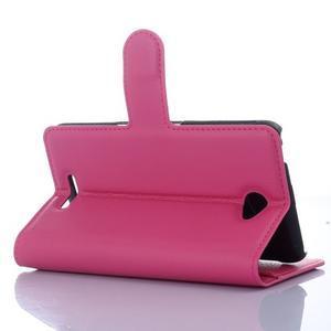 PU kožené Peňaženkové puzdro pre mobil Sony Xperia E4 - rose - 2