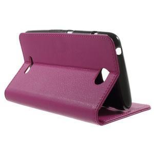 PU kožené Peňaženkové puzdro pre Sony Xperia E4 - rose - 2