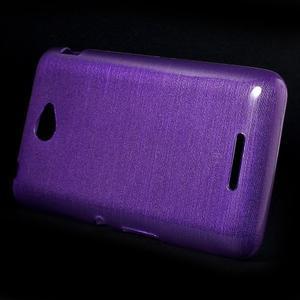 Brúsený gélový obal pre Sony Xperia E4 - fialový - 2