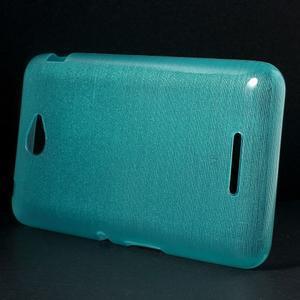 Brúsený gélový obal pre Sony Xperia E4 - tyrkysový - 2