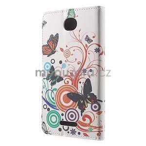 Peněženkové pouzdro na Sony Xperia E4 - barevní motýlci - 2