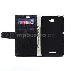 Puzdro s krokodílím vzoromna Sony Xperia E4 - čierne - 2
