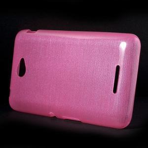 Broušený gelový obal pro Sony Xperia E4 - rose - 2