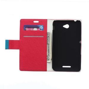 Vzorované peňaženkové puzdro pre Sony Xperia E4 - červené - 2