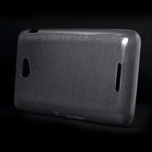 Broušený gelový obal pro Sony Xperia E4 - transparentní - 2