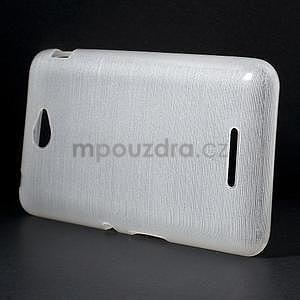 Brúsený gélový obal pre Sony Xperia E4 - biely - 2