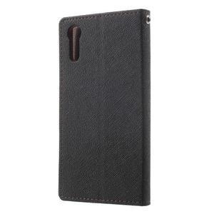 Diary PU kožené puzdro pre mobil Sony Xperia XZ - čierne/hnedé - 2