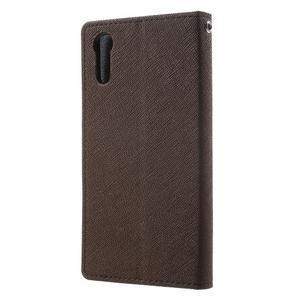 Diary PU kožené puzdro pre mobil Sony Xperia XZ - hnedé - 2
