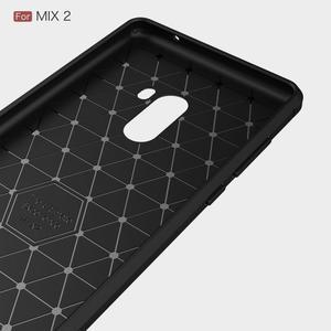 Carbon odolný gelový obal na Xiaomi Mi Mix 2 - červený - 2