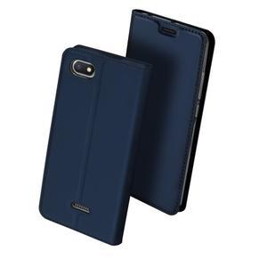 DUX PU kožené flipové puzdro na mobil Xiaomi Redmi 6A - modré - 2